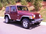 2002 Jeep Wrangler Sienna Red Pearl