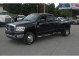 2007 Brilliant Black Crystal Pearl Dodge Ram 3500 SLT Quad Cab 4x4 Dually #33673910
