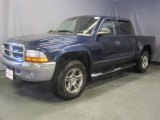 2004 Patriot Blue Pearl Dodge Dakota SLT Quad Cab 4x4 #33673574