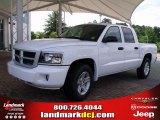 2010 Stone White Dodge Dakota Big Horn Crew Cab #33673332