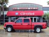 2006 Sport Red Metallic Chevrolet Silverado 1500 Z71 Crew Cab 4x4 #33673114