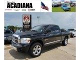 2008 Brilliant Black Crystal Pearl Dodge Ram 1500 Laramie Quad Cab 4x4 #33673365