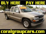 2001 Sunset Gold Metallic Chevrolet Silverado 1500 LS Extended Cab #33674029