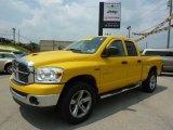 2007 Detonator Yellow Dodge Ram 1500 ST Quad Cab 4x4 #33673429