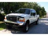 2000 Oxford White Ford F250 Super Duty Lariat Crew Cab 4x4 #33673432