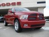 2010 Inferno Red Crystal Pearl Dodge Ram 1500 Sport Quad Cab #33673724