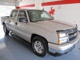 2006 Silver Birch Metallic Chevrolet Silverado 1500 LT Crew Cab #33744409