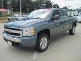 2008 Blue Granite Metallic Chevrolet Silverado 1500 LT Crew Cab 4x4 #33744998