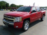 2010 Victory Red Chevrolet Silverado 1500 LT Crew Cab 4x4 #33745303