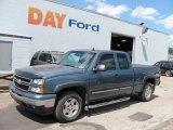 2006 Blue Granite Metallic Chevrolet Silverado 1500 Z71 Extended Cab 4x4 #33744578