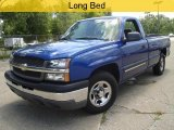 2004 Arrival Blue Metallic Chevrolet Silverado 1500 Regular Cab #33744605