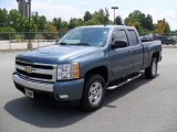 2007 Blue Granite Metallic Chevrolet Silverado 1500 LT Extended Cab #33745392