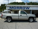 2006 Silver Birch Metallic Chevrolet Silverado 1500 Work Truck Regular Cab 4x4 #33802301