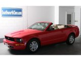 2007 Torch Red Ford Mustang V6 Deluxe Convertible #33745098