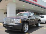 2008 Dark Cherry Metallic Chevrolet Silverado 1500 Work Truck Regular Cab #33802693