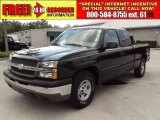 2004 Dark Green Metallic Chevrolet Silverado 1500 Work Truck Extended Cab #33803157