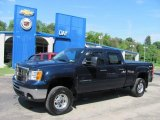 2007 Deep Blue Metallic GMC Sierra 2500HD SLE Crew Cab 4x4 #33802264