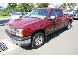 2004 Sport Red Metallic Chevrolet Silverado 1500 LT Extended Cab 4x4 #33802550