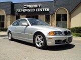 2001 Titanium Silver Metallic BMW 3 Series 325i Coupe #33882485