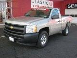 2008 Silver Birch Metallic Chevrolet Silverado 1500 Work Truck Regular Cab #33882419