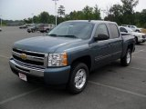 2010 Blue Granite Metallic Chevrolet Silverado 1500 LT Crew Cab 4x4 #33882665