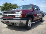 2004 Sport Red Metallic Chevrolet Silverado 1500 Z71 Crew Cab 4x4 #33882067