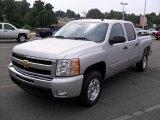 2010 Sheer Silver Metallic Chevrolet Silverado 1500 LT Crew Cab #33882669