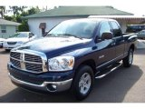 2008 Patriot Blue Pearl Dodge Ram 1500 Big Horn Edition Quad Cab #33936147