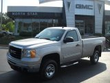 2007 Silver Birch Metallic GMC Sierra 2500HD SLE Regular Cab 4x4 #33935713