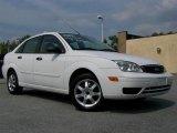 2005 Cloud 9 White Ford Focus ZX4 SE Sedan #33935524