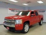 2008 Victory Red Chevrolet Silverado 1500 LT Crew Cab #33936288