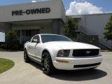 2005 Performance White Ford Mustang V6 Premium Coupe #33935603