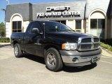 2002 Black Dodge Ram 1500 ST Regular Cab #33987155