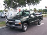 2001 Forest Green Metallic Chevrolet Silverado 1500 LS Regular Cab 4x4 #33986754