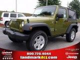 2010 Rescue Green Metallic Jeep Wrangler Sport 4x4 #33986843