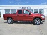 2007 Inferno Red Crystal Pearl Dodge Ram 1500 Big Horn Edition Quad Cab 4x4 #33986865