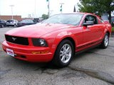 2006 Torch Red Ford Mustang V6 Deluxe Coupe #34094902
