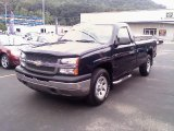 2005 Dark Blue Metallic Chevrolet Silverado 1500 Regular Cab 4x4 #34094914