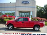 2010 Vermillion Red Ford F150 XLT SuperCab 4x4 #34094944