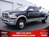 2010 Brilliant Black Crystal Pearl Dodge Ram 3500 Laramie Crew Cab 4x4 Dually #34095207