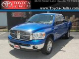 2008 Electric Blue Pearl Dodge Ram 1500 Lone Star Edition Quad Cab 4x4 #34095050