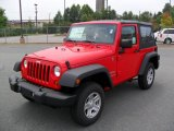 2010 Flame Red Jeep Wrangler Sport 4x4 #34095964