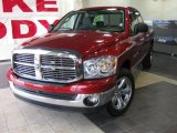 2007 Inferno Red Crystal Pearl Dodge Ram 1500 ST Quad Cab #34095346