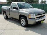 2007 Graystone Metallic Chevrolet Silverado 1500 LS Regular Cab #34095356