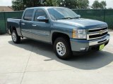 2009 Blue Granite Metallic Chevrolet Silverado 1500 LT Crew Cab #34095358