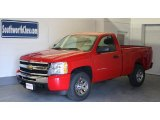 2011 Victory Red Chevrolet Silverado 1500 LS Regular Cab 4x4 #34095654