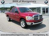 2007 Inferno Red Crystal Pearl Dodge Ram 1500 SLT Quad Cab #34168145