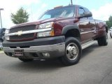 2003 Dark Carmine Red Metallic Chevrolet Silverado 3500 LS Extended Cab 4x4 Dually #34167938
