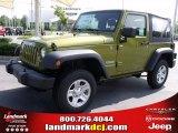 2010 Rescue Green Metallic Jeep Wrangler Sport 4x4 #34167951
