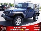 2010 Deep Water Blue Pearl Jeep Wrangler Sport 4x4 #34167952